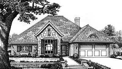 Traditional Style Home Design Plan: 8-279