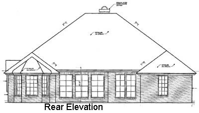 Rear Elevation Plan: 8-284