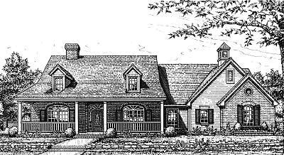 Country Style Floor Plans Plan: 8-287