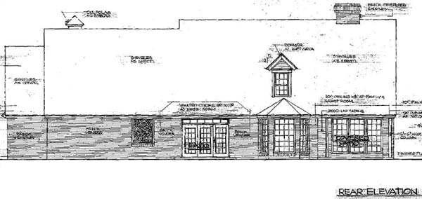 Rear Elevation Plan: 8-287