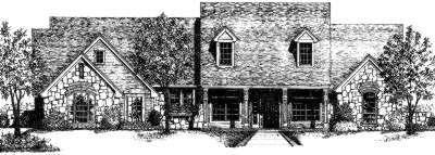 Country Style Home Design Plan: 8-291