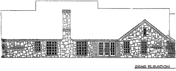 Rear Elevation Plan: 8-291
