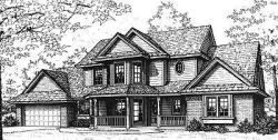 Country Style Home Design Plan: 8-292