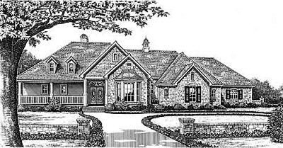 Traditional Style Home Design Plan: 8-295