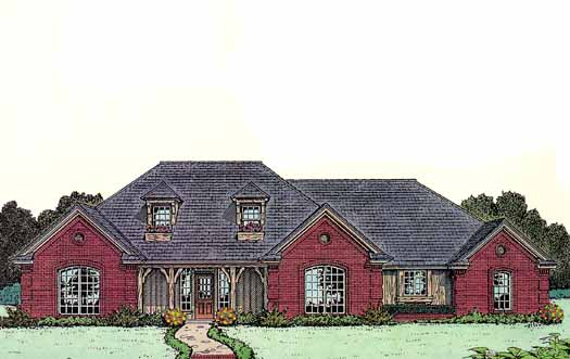 Traditional Style Floor Plans Plan: 8-296