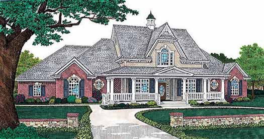 Southern Style Home Design Plan: 8-298