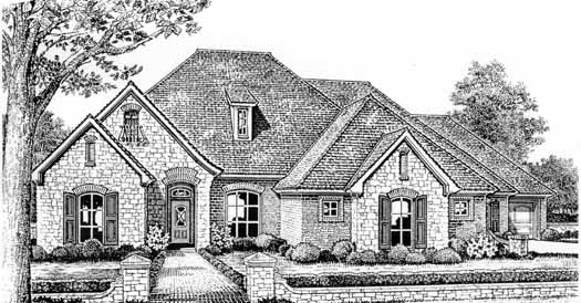 French-country Style Floor Plans Plan: 8-301