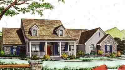 Country Style Floor Plans Plan: 8-310