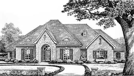 Traditional Style Floor Plans Plan: 8-311