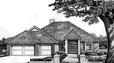Traditional Style Home Design Plan: 8-314