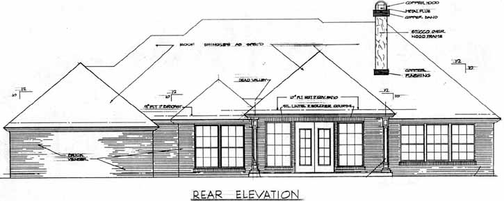 Rear Elevation Plan: 8-315