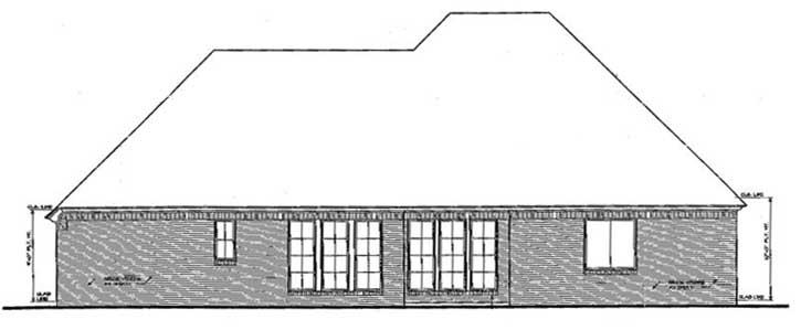 Rear Elevation Plan: 8-326