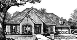 European Style Home Design Plan: 8-326