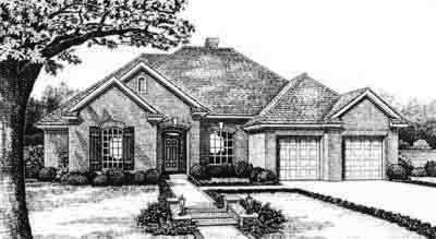 Traditional Style Home Design Plan: 8-333