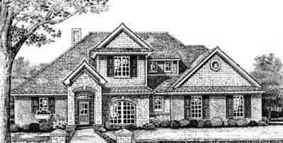 Traditional Style Home Design Plan: 8-334