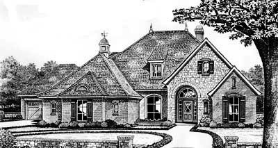 Traditional Style Home Design Plan: 8-340