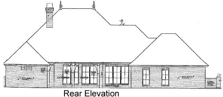 Rear Elevation Plan: 8-340