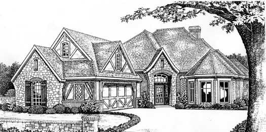 European Style House Plans Plan: 8-344