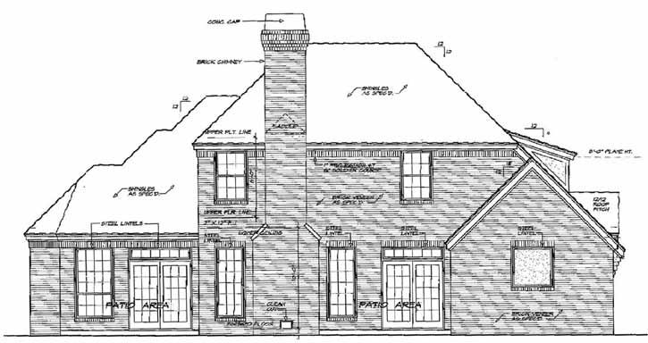 Rear Elevation Plan: 8-344