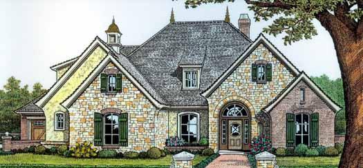 European Style House Plans Plan: 8-348