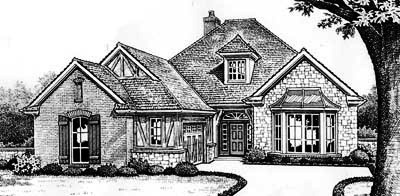 English-country Style Home Design Plan: 8-352