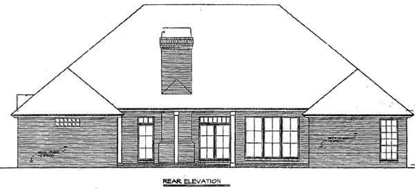 Rear Elevation Plan: 8-356