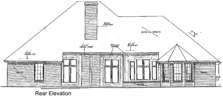 Rear Elevation Plan: 8-357