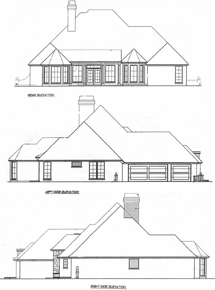 Rear Elevation Plan: 8-361