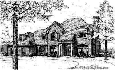 Traditional Style Home Design Plan: 8-363