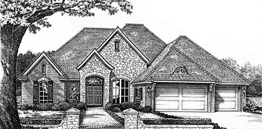 Traditional Style Floor Plans Plan: 8-366