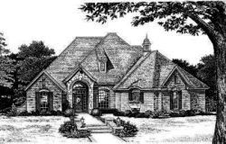 English-Country Style Home Design Plan: 8-367