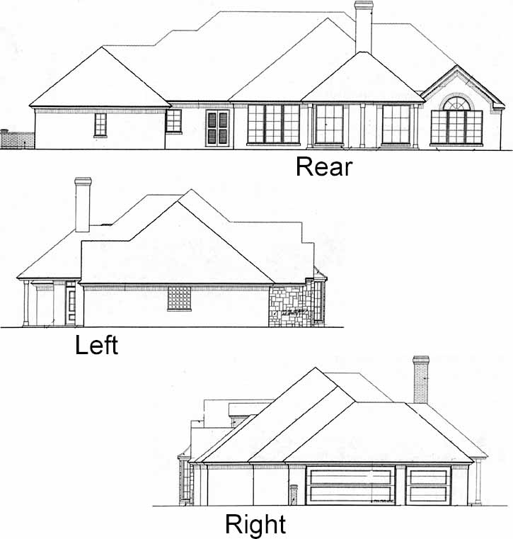 Rear Elevation Plan: 8-370