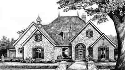 European Style House Plans Plan: 8-371