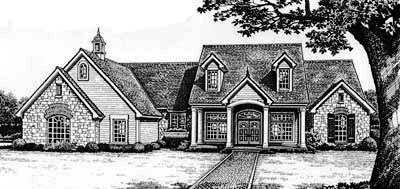 Country Style Home Design Plan: 8-375