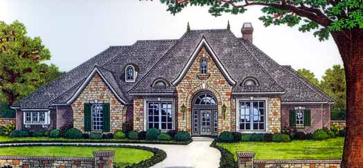 European Style House Plans Plan: 8-377
