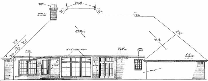 Rear Elevation Plan: 8-377