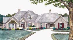 Traditional Style Home Design Plan: 8-381