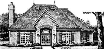 Traditional Style Home Design Plan: 8-388