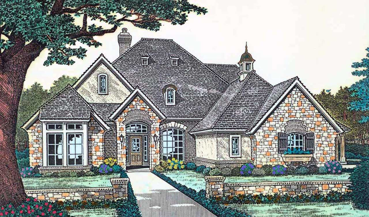 European Style House Plans Plan: 8-389