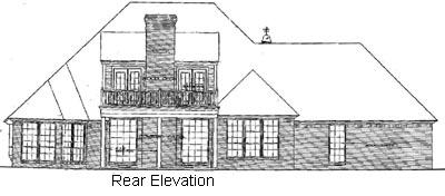 Rear Elevation Plan: 8-391