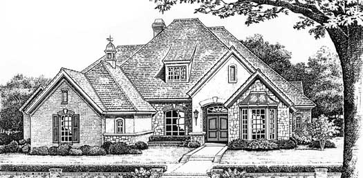 English-country Style House Plans Plan: 8-399
