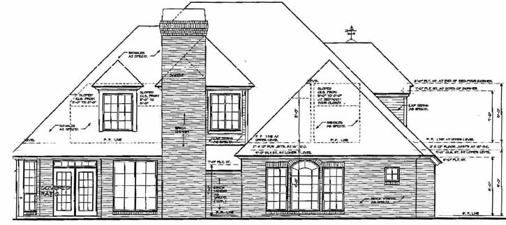 Rear Elevation Plan: 8-399