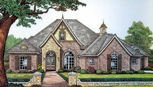 English-country Style Floor Plans Plan: 8-400