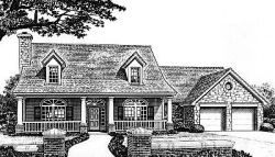 Country Style Home Design Plan: 8-401
