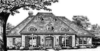 English-country Style Home Design Plan: 8-402