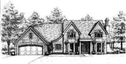 French-Country Style Floor Plans Plan: 8-405