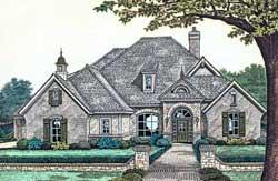 European Style Home Design Plan: 8-406