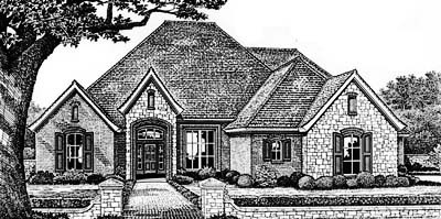 European Style House Plans Plan: 8-410