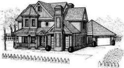 Country Style Floor Plans Plan: 8-416