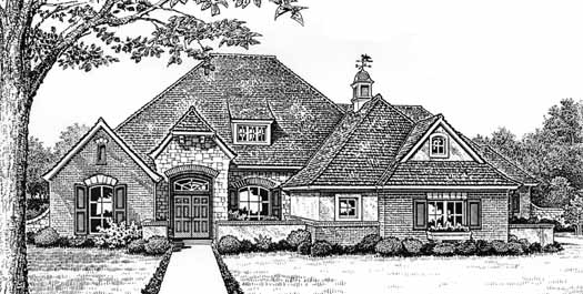 Traditional Style Home Design Plan: 8-419